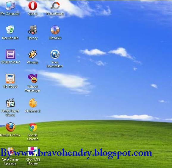Menghapus Tanda Panah Software Shortcut Pada Windows XP